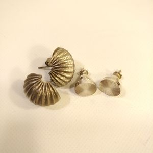 2 for $10 • 2 pairs of vintage silver earrings